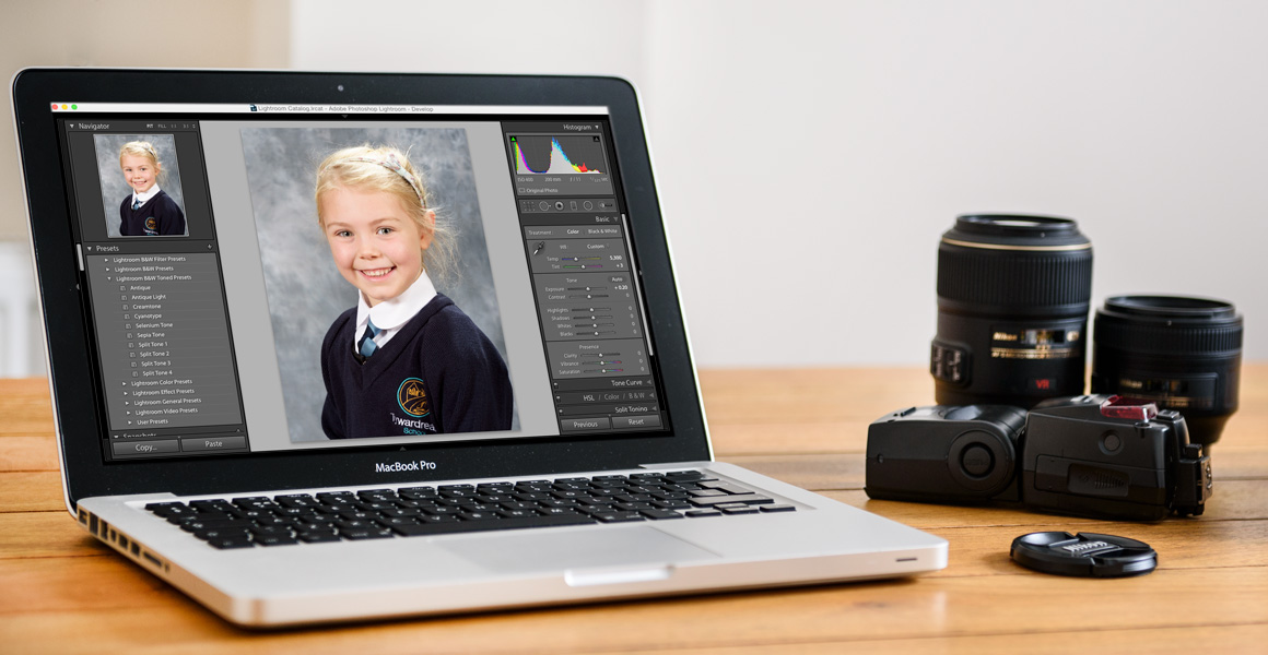 Harlequin School Photography Cornwall Laptop and Lenses